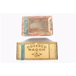 Early Montana Pioneer & Covered Wagon Cigar Boxes