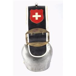 Large Leysin, Switzerland Dairy Cow Brass Cowbell
