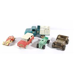 Early Tin Lithograph Toy Trucks & Cars