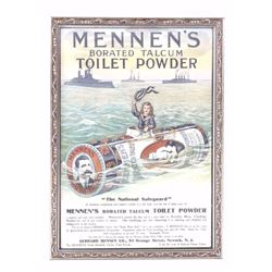 Mennens Borated Talcum Toilet Powder Poster AD