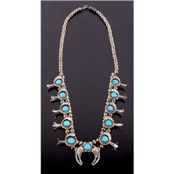 Navajo Squash Blossom Sleeping Beauty Necklace