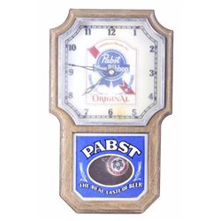 Pabst Blue Ribbon 1960 Era Light Up Pendulum Clock