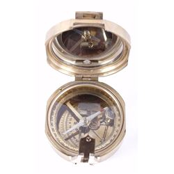 Brass Natural Sine Compass by Stanley London