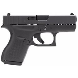 "Glock UI4250201 G42 Subcompact Double 380 Automatic Colt Pistol (ACP) 3.25"" 6+1 Black Polymer Grip/F"