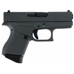"Glock PI4350201SNP G43 Subcompact Double 9mm Luger 3.39"" 6+1 Gray Interchangeable Backstrap Grip Gra"
