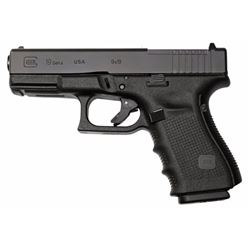 "Glock PG1950203MOS G19 Gen 4 Compact MOS Double 9mm Luger 4.01"" 15+1 Black Interchangeable Backstrap"