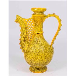 Zsolnay Yellow Textured Ceramic Ewer