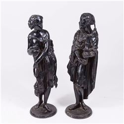 Pair of Spelter Orientalist Figures