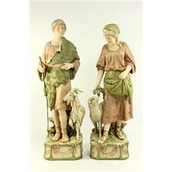Pair Royal Dux Figures