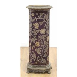 Bronze Mounted Porcelain Umbrella Stand