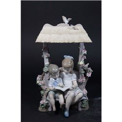 "Lladro Porcelain Grouping, ""A Reading Lesson"""