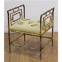 Gilded metal Bamboo Design Bench