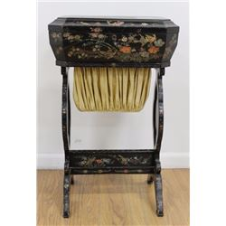 19th Century Papier Maché Sewing Cabinet