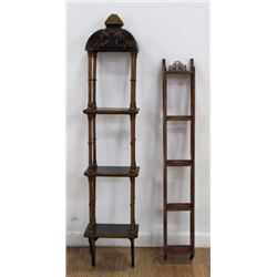 2 Chinese Decorated Wall Shelf Hangs