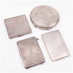 Lot 4 Austrian 800 Silver Compacts