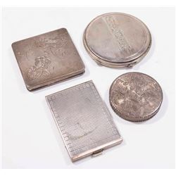 Lot 4 Silver Compacts