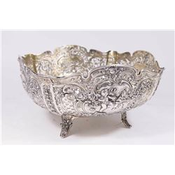 Open Reticulated 800 Silver Center Bowl