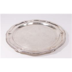 Round Sterling Silver Platter