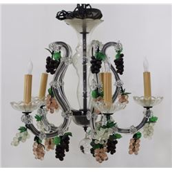 Mother Theresa Colored & Molded Glass Chandelier