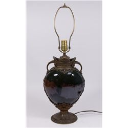 Victorian Bronze Mounted Flambe Glazed Lamp