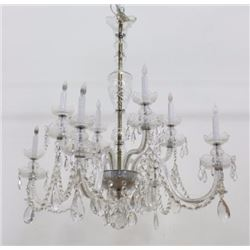 Victorian Style Cut Crystal 8-Light Chandelier