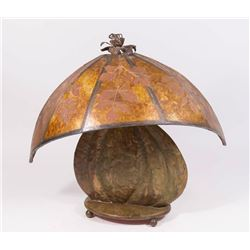 Hand Hammered Arts & Crafts Copper Clad Lamp Base