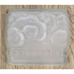 Art Deco Frosted & Molded Glass Wall Panel
