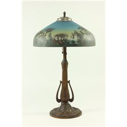 Tropical Reverse Painted Lamp