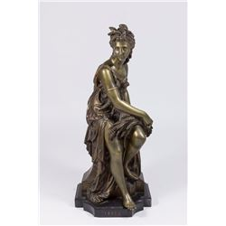 Bronze Figure of Seated Woman