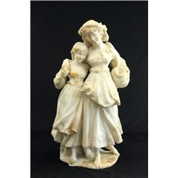Marble Sculpture of Mother with Child