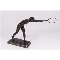Early 20th Century Bronze Figure of Tennis Player