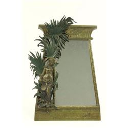Bronze Egyptian Revival Table Mirror
