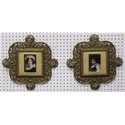 Pair Hand Painted Porcelain Plaques