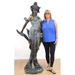 Life Size Bronze Statue of Woman
