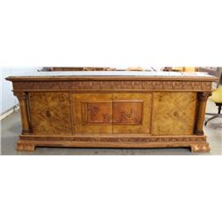 Neoclassic Style Carved Walnut Buffet