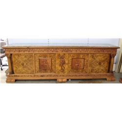 Grand Neoclassic Style Carved Walnut Buffet