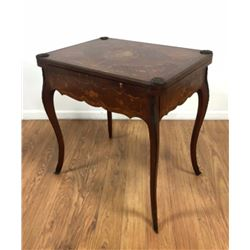 French 19th C. Bronze Mounted Inlaid Game Table