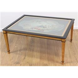 :Paint-Decorated Coffee Table
