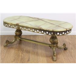 Bronze & Onyx Top Coffee Table