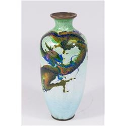 Japanese Fish Scale Enamelled Vase