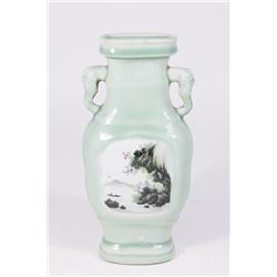 Chinese Celadon Ground Porcelain Vase