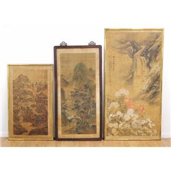 3 Chinese Antique Landscapes