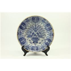 Early 19th Century Blue & White Chinese Charger