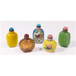 5 Chinese Snuff Bottles
