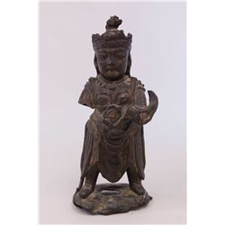 Chinese Bronze Figure of a Warrior
