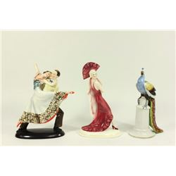 3 Art Deco Porcelain Figures