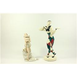 2 Art Deco Pottery Figures