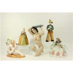5 Ceramic Figurines