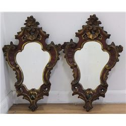 2 Borghese Carved Mirrors