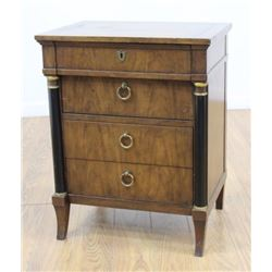 Empire Style Parcel Ebonized Walnut Small Chest